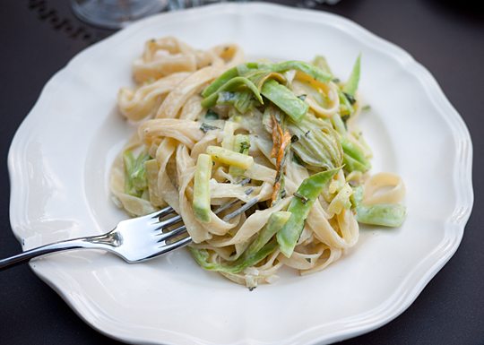 fettuchini squash courgette pasta