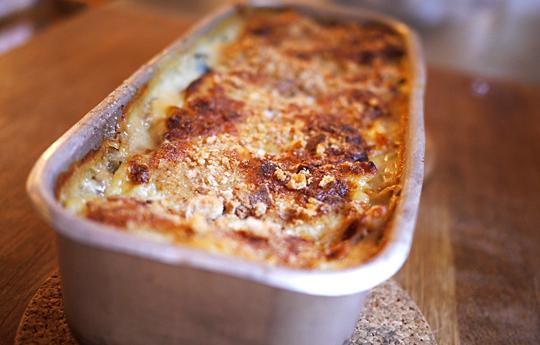 lasagne spidskål ramsløg