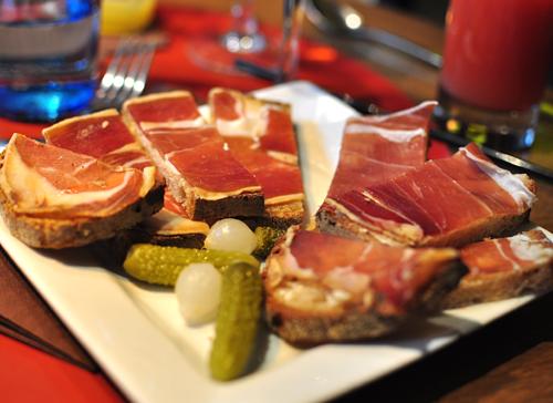 tartine au jambon d'Auvergne