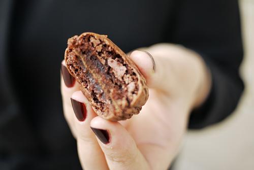 chokolade macaron