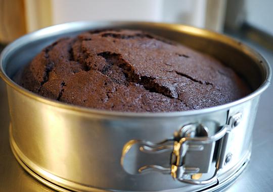chokoladekage i springform