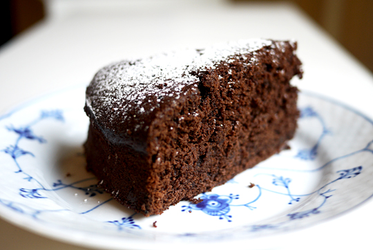 chokoladekage i rund springform
