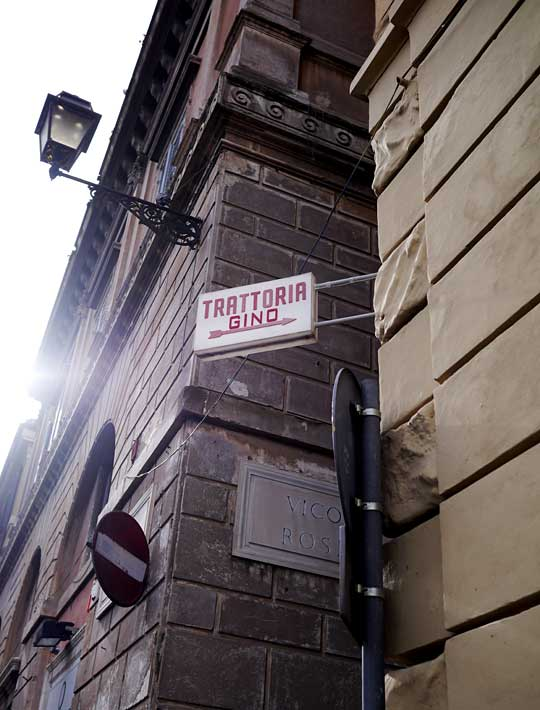 Rom: billig frokost hos Trattoria Gino