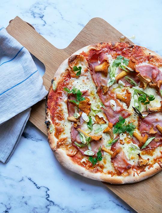 Super Pizza med kantareller og et godt hverdagshack - BM48